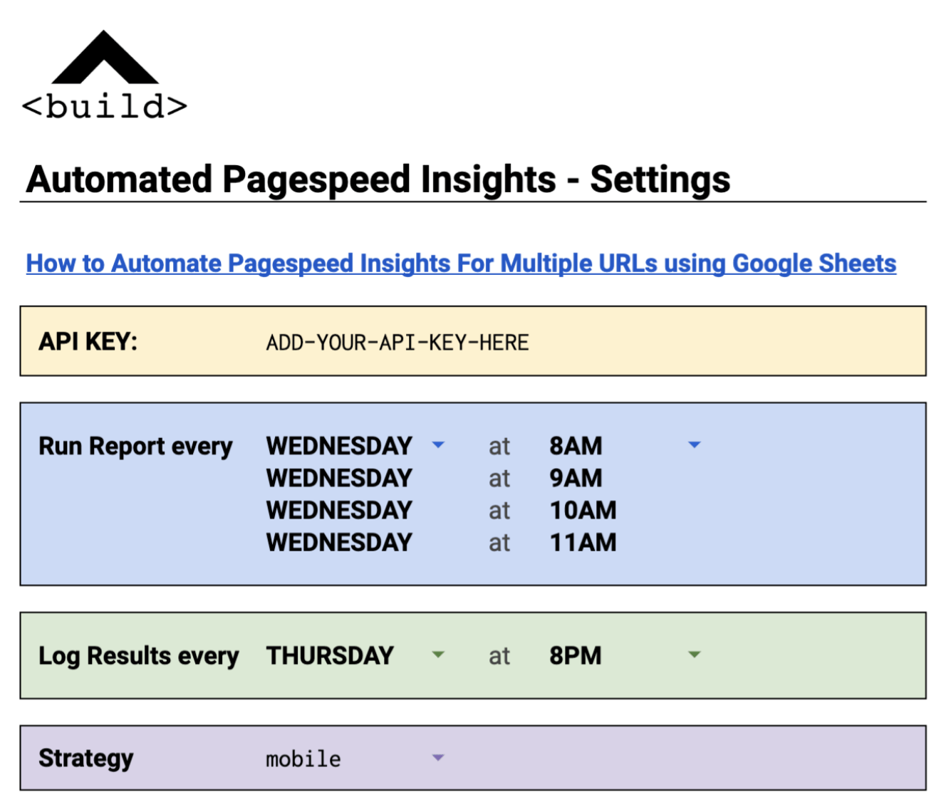 Automating Pagespeed Insights Using Google Sheets [Updated Template]