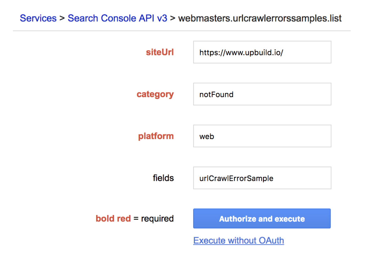 "Download ""Linked From"" URLs using Google Search Console API"